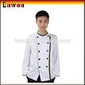 designer de moda de algodão poli restaurante do chef uniforme uniforme esperar pessoal