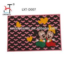 Custom colorful PVC door mat black