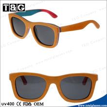 Orange W Smoke Lens Natural Wood Sunglasses High Quality Men Unisex Fashion Bycicle Glasses Polarized UV400 Luxury Oculos
