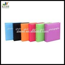 Screw post bound pp pocket leather slip in 4x6 photo album plain 200 photos(6 colors for choose)