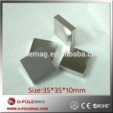 35x35x10mm N35 Block NdFeB Magnetic Lifter Magnet