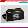 High quality black PU leather men cosmetic bag with carrying