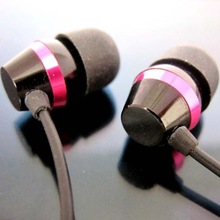 Bucket shape metallic shell in-ear earphone with mic and volume control high quality and new design handsfree earphone