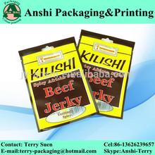 Plastic dried beef packaging bag 3 sides sealed food bag