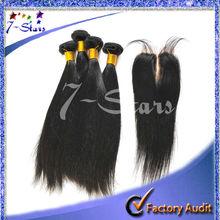 New arrival 7A high quality virgin human hair Indian/peruvian hair silky straight hair with closure