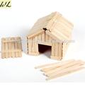 hecho en china de madera de palo de helado artesanal de la casa