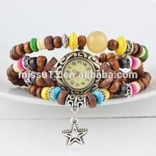 Ms 2014 fashion atmosphere mainstream digital beads bracelet lady watch