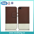 Wholesale cell phone leather pu flip case for iphone 5 5s