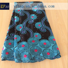 2014 high quality noble embroidery sequins fabric/ african lace materials for garment
