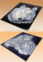 100% polyester animal printed super soft fleece blanket/korean blanket