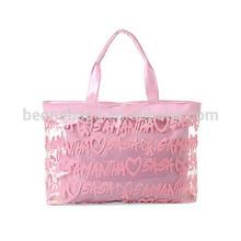 lovely pink superior design clear girls handbags china manufacturer
