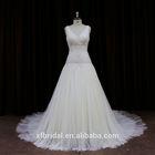 Skirt And Blouse Tulle V-neck Open Back Long Tail Wedding Dresses 2014