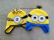 Crochet animal child beanie hat fashionable Despicable me 2 hats
