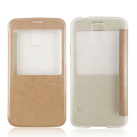 Window view s line case for samsung galaxy s5 china mobile phone spare parts