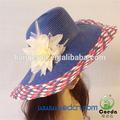 Papel de crochê de palha grande chapéu de aba