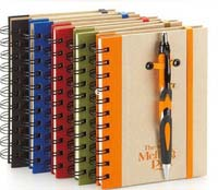 promotional items office supply notebook with pen