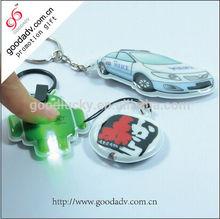 PVC led keychain light / pvc promotional light torch led keychains