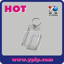 2014 clear blank rectangle acrylic photo Keychain key chain wholesale
