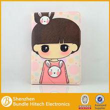Super cute girl leathercase for ipad mini , case for ipad mini