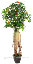 artificial ginseng tree root cherry bloom tree fruits artificial bonsai plant and flowers 2014 hot selling
