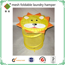 hot selling cartoon hanging mesh drawing laundry hamper bags wholesale