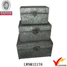 s/3 galvanized vintage storage little metal box
