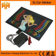 2014 Beautiful and Fashionable Car Window Decoration,El Flashing Car Sticker