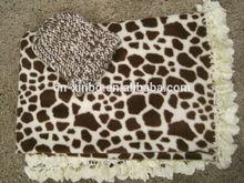 giraffe print beautiful handmade polar fleece & crochet baby blanket