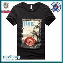 men fashion t shirt wholesale cheap china import t shirts custom short sleeve cotton t-shirt man black printing t-shirt