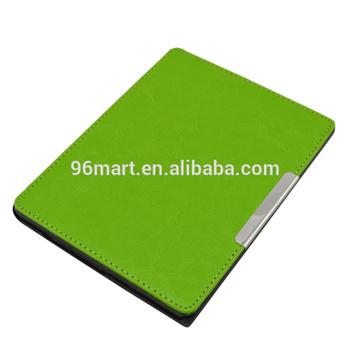 Auto wake sleep funtion PU leather case for kobo aura 6 inch eReader Cases