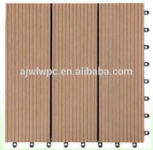 WPC Materials Plastic Floor Tiles/Wood Pattern Floor Tiles/ extrude wpc deck tile