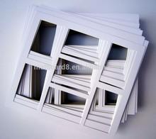 custom wholesale acid-free matboard whole sheet or multi opening