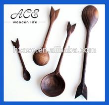 Arrow Shape Black Walnut Spoon
