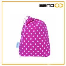Promotion pink polka dot character kids party drawstring bag