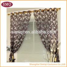 Fashionable Poly Silk Eyelet Hotel Curtain
