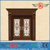 JK-C9041 villa front imtated copper iron main entrance doors grill design