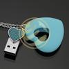Heart shape with keychain usb drive flash memory with 16gb bulk