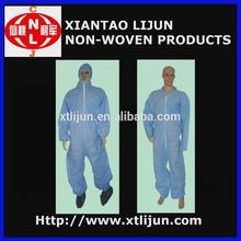 Hot vender apicultura coverall/sms segurança coverall descartáveis/atacado vestuário de protecção
