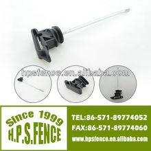 Hangzhou screw wood post black with long arm ribbon insulator