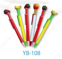 2015 With Fruits Cartoon Pen Logo Pen Ballpoint Pen Factory