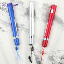 Free sample cheap custom logo banner ball pen with led light