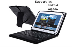For 9-10.1 inch Tablet Universal Detachable Wireless Bluetooth Keyboard