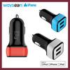 double usb car charger for iPhone 5 5S 5C 4 4S,iPad 4 3 2 iPad mini iPad air