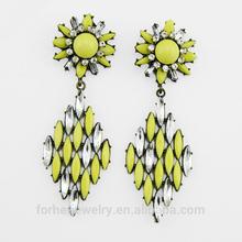 In stock 2014 wholesale fashion resin dangle earring SKC0794