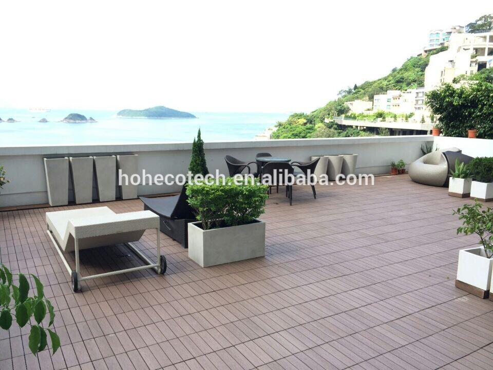 Wpc decking compuesto azulejos terraza otros pavimentos - Azulejos de terraza ...