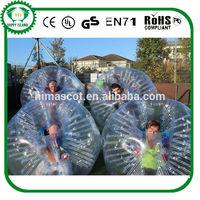 HI CE 1.5m PVC inflatable bumper ball/ body zorbing bubble ball