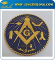 mundialmente famoso de metal personalizado metal maçônica carro emblemas do emblema