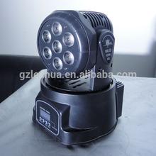LED MOVING HEAD 7 LEDS 5MM RGBW 12 CH DMX 360