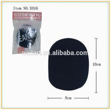 Px016 black oval sponge Facial clear power puff wholesale
