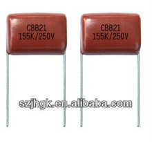 Metallized polypropylene film capacitor(Dipped), CBB21 155K/250V